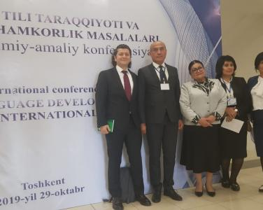"Istinye University Department of Turkish Language and Literature lecturer Dr. Feyzi ÇİMEN participated in the symposium on ""Uzbek Language Progress and Halkara Hamkarlık Matter"" held in Tashkent."